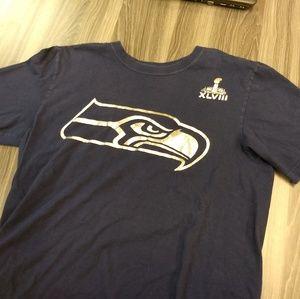 Nike Shirts - SEATTLE SEAHAWKS LOGO T-SHIRT - SUPERBOWL 48 NIKE